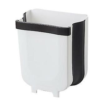 5l Настенный складной мусорный бак Кухонный шкаф Дверь Подвесной мусор