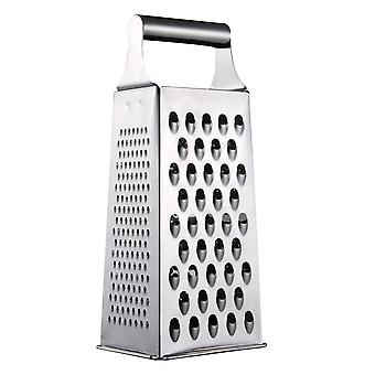 Square Grater Made Of 4-sided Stainless Steel With Extra Sharp Graters