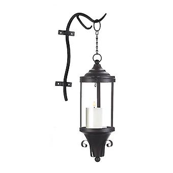 Gallery of Light Industrial-Style Hanging Candle Lantern, Pack of 1