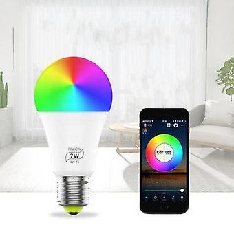 Zj-wfbl-rgbww ac100-240v 7w wifi rgbcw timer voice control app smart led bulb light work with amazon alexa