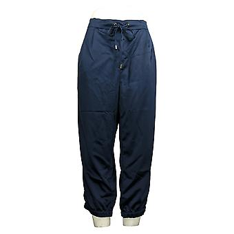 H By Halston Pantalones de Mujer Recortados con Bolsillos Azul A272383