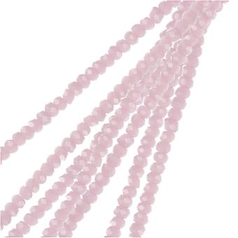 Crystal Beads, Faceted Rondelle 1.5x2.5mm, 2 Strands, Opaque Light Purple