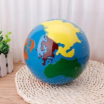 Puslespil Kort Geografi Materiale Globe of World Parts Kids Tidlig læring Legetøj| Matematik legetøj