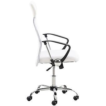 Chaise de bureau - Chaise de bureau - Bureau à domicile - Moderne - Blanc - Métal - 60 cm x 53 cm x 110 cm