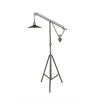 Lámpara de pie colgante de trípode moderno