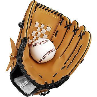 כפפת בייסבול עם כדור אחד