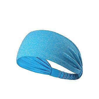 Fast Dry Yoga Sports Headband Moisture Wicking Fitness Hair Band Blue