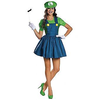 Neues Luigi Super Mario Nintendo Das Klempnerspiel Cartoon Frauen Kostüm
