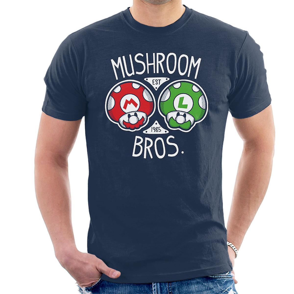 Mushroom Bros Super Mario Men's T-Shirt
