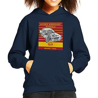 Haynes Workshop Manual 0409 Ford Cortina 1300 Stripe Kid's Hooded Sweatshirt