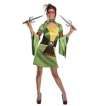 Trajes de mulheres mulheres senhora Ninja turtle traje Raphael