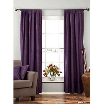 Viola tenda di velluto superiore scheda / drappo / pannello - 84