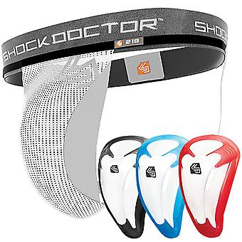 Shock Doctor Core Athletic Supporter mit Bio-Flex Cup - Weiß
