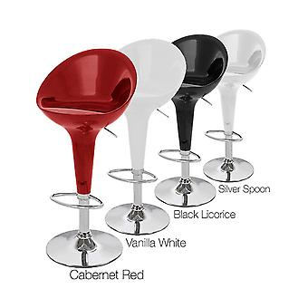 Beta Contemporary Bombo Style Adjustable Barstool
