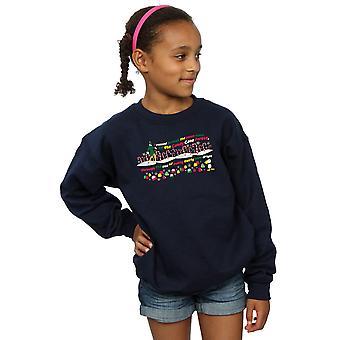 Elf Girls Candy Cane Forest Sweatshirt