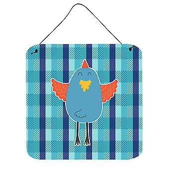 Carolines Treasures  BB6782DS66 Blue Chicken Wall or Door Hanging Prints