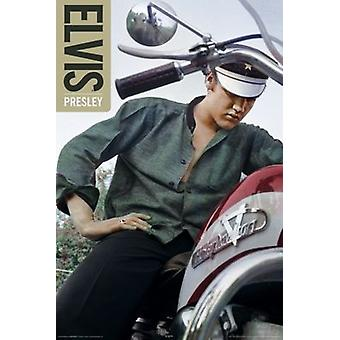 Elvis Presley - Color Bike Poster Poster Print