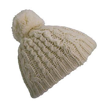Bébé garçons/filles câble tricot hiver Beanie Bonnet avec pompon