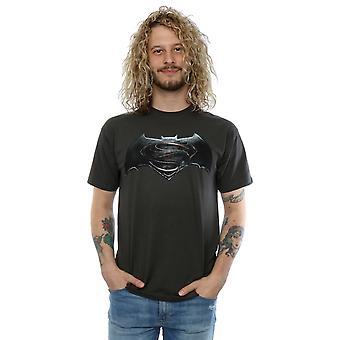 V DC Comics мужчин Бэтмен Супермен логотип T-Shirt