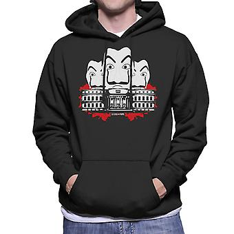 La Casa De Papel Montage Men's Hooded Sweatshirt