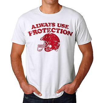 Humor Protection Men's White T-shirt