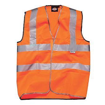 Dickies Mens Workwear rodovia segurança colete laranja SA30310O