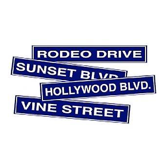 Улица Голливуд знак картона вырезов