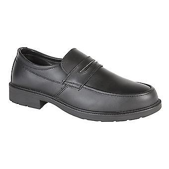 Uniforme/gestionnaires de maîtres greffeurs Mens pas dans chaussure de sécurité en cuir