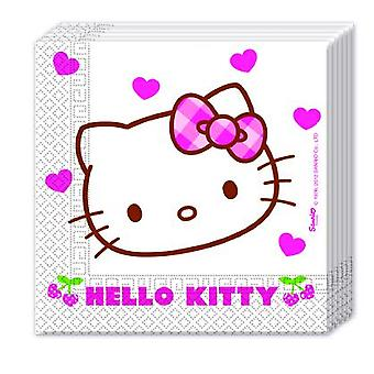 Hello Kitty hearts kitten party napkins 33 x 33 cm 20pcs children birthday theme party