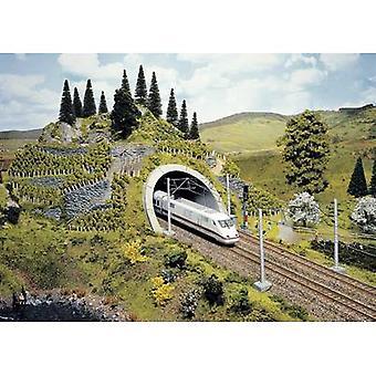 NOCH 58040 PROFI plus H0 tunnel portaal 2-track HR Foam prefab, gelakt