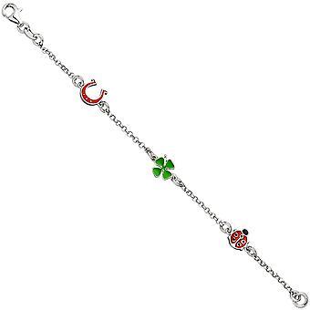 Armband für Kinder 925 Sterling Silber 14 cm Kinderarmband Glücksbringer