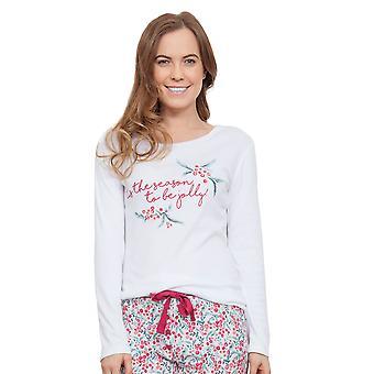 Cyberjammies 3860 vrouwen Holly wit Pajama pyjama's Top