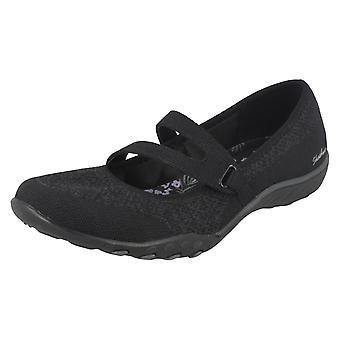 Skechers Mesdames détendu Fit chaussures occasionnelles respirent facile chanceux 23005/BLK