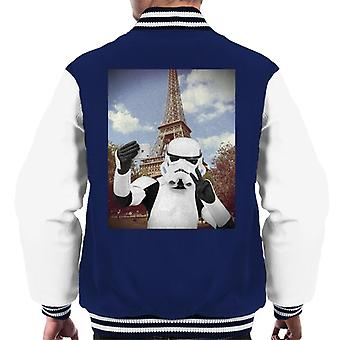 Original Stormtrooper Selfie Eiffel Tower Men's Varsity Jacket
