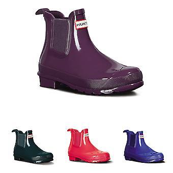 Womens Hunter Original Chelsea Gloss Rain Winter Waterproof Ankle Boots UK 3-9