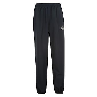 Orlo chiuso Lonsdale Mens tessuto pantaloni pantaloni sport Running palestra Bottoms