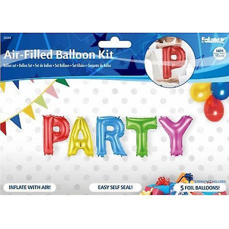 Vackra folieballonger som bildar texten PARTY - 36 cm (14 tum)