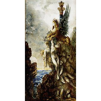 The Sphinx,Gustave Moreau,31.5x17.7cm