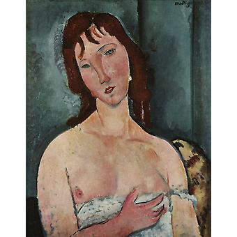 Portræt af en ung kvinde, Amedeo Modigliani, 50x40cm