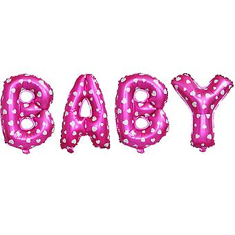 PINK BABY WORD FOIL BALLOON 16INCH