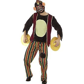 Делюкс Clapping обезьяны игрушки костюм, разноцветные, с верхней, брюки, Ева маска & тарелки