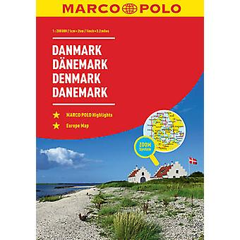 Denmark Marco Polo Road Atlas by Marco Polo - 9783829736824 Book