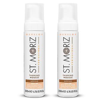 2-pack St Moriz Professional Medium Mousse 200ml