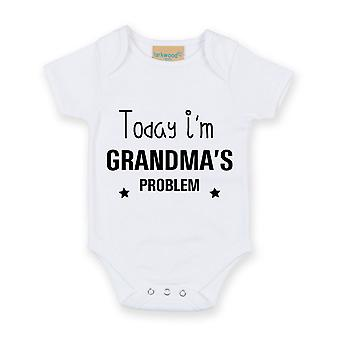 Today I'm Grandma's Problem White Short Sleeve Baby Grow