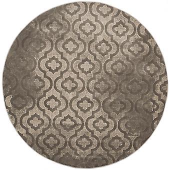 Webteppich Kurzflor Wohnzimmer Indoor Teppich grau rund Indoor Rugs - Pacific Evergreen Grey 155 / 155 cm  - Teppich für den Wohnbereich innen