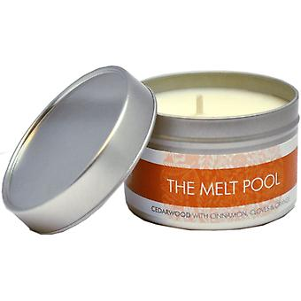 Small Tin Cedarwood with Cinnamon, Clove & Orange by The Melt Pool