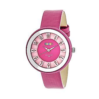 Crayo viering Unisex horloge-roze