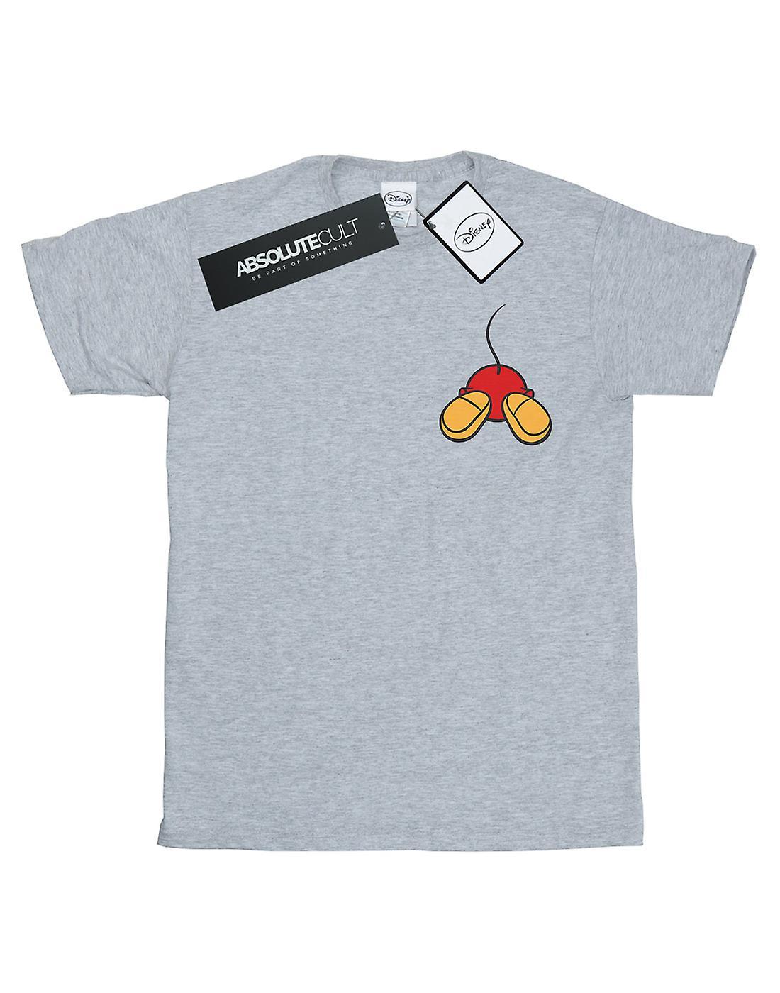 Disney Women's Mickey Mouse Backside Breast Print Boyfriend Fit T-Shirt