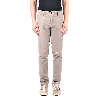 Incotex Ezbc093023 Men's Grey Cotton Pants