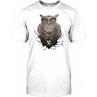 Cool Owl Design - Tattoo Inspired Kids T Shirt